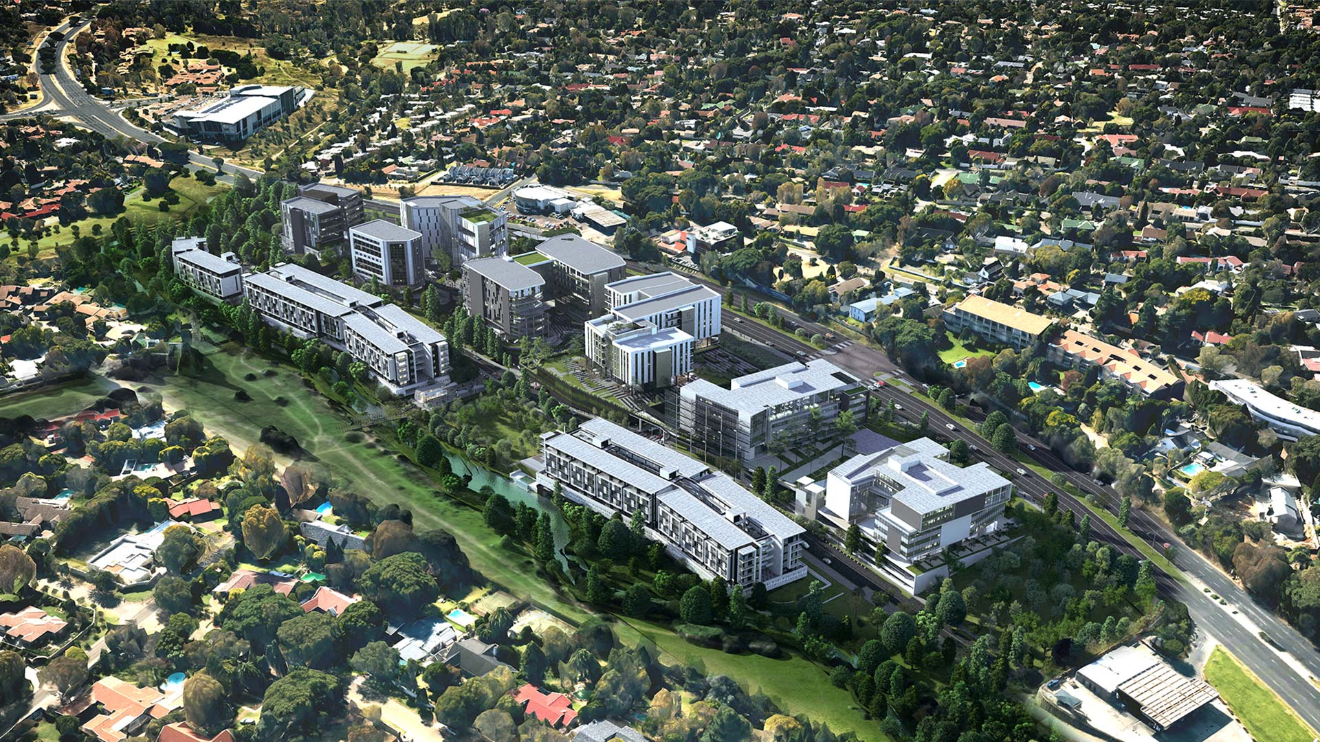 Sandton Gate is a new development in Sandton with both residential and commercial properties